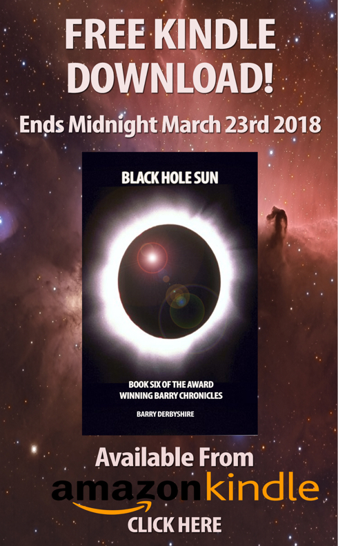Last Day For Free Kindle Download of 'Black Hole Sun'!